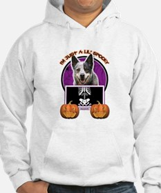 Halloween Just a Lil Spooky Cattle Dog Hoodie