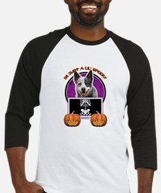Halloween Just a Lil Spooky Cattle Dog Baseball Je