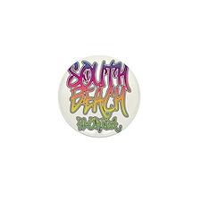 South Beach Graffiti Mini Button