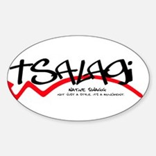 Tsalagi Black.png Sticker (Oval)