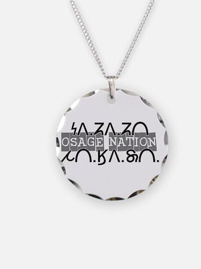osage nation black.png Necklace Circle Charm