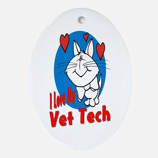 Vet Tech Oval Ornament