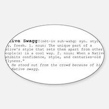 SWAGGDEFblack.png Sticker (Oval)
