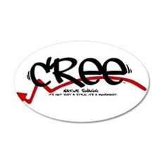 cree black.png Wall Decal