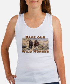 Save Our Wild Horses Women's Tank Top
