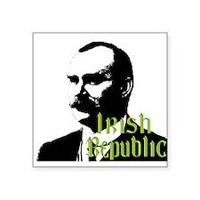 """Irish Republic - James Connoly Square Sticker 3"""" x"""