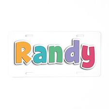 Randy Spring11 Aluminum License Plate