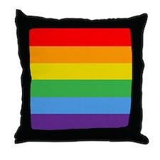Rainbow Flag Throw Pillow