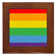 Rainbow Flag Framed Tile