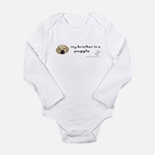 Cute Rescue puggle Long Sleeve Infant Bodysuit