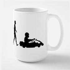 Go-Karting Large Mug