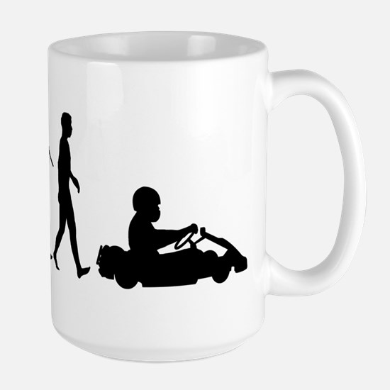 Go-Karting Large Mug