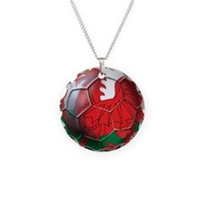 Welsh Dragon Football Necklace