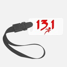 Red 13.1 half-marathon Luggage Tag