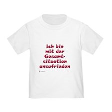 Unzufrieden, red (german) T