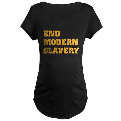End Modern Slavery Maternity Dark T-Shirt