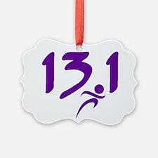 Purple 13.1 half-marathon Ornament