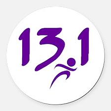Purple 13.1 half-marathon Round Car Magnet