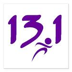 Purple 13.1 half-marathon Square Car Magnet 3