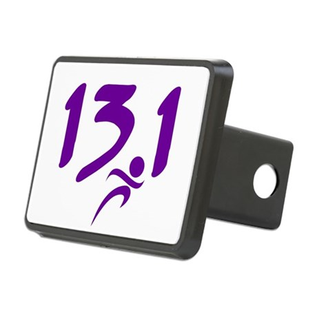 Purple 13.1 half-marathon Rectangular Hitch Cover