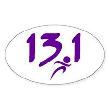Purple 13.1 half-marathon Decal