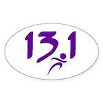 Purple 13.1 half-marathon Sticker (Oval 50 pk)