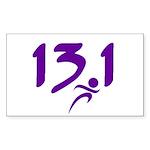 Purple 13.1 half-marathon Sticker (Rectangle 10 pk