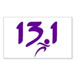 Purple 13.1 half-marathon Sticker (Rectangle 50 pk