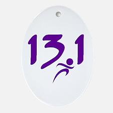 Purple 13.1 half-marathon Ornament (Oval)