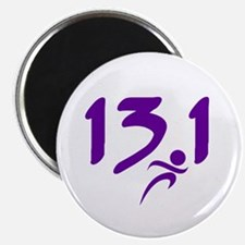 Purple 13.1 half-marathon Magnet