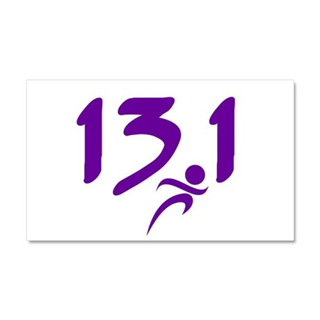 Purple 13.1 half-marathon Car Magnet 20 x 12