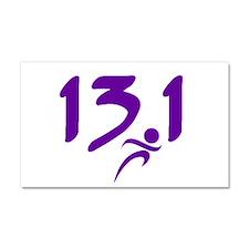 Purple 13.1 half-marathon Car Magnet 20 x 12