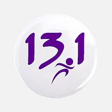 """Purple 13.1 half-marathon 3.5"""" Button (100 pack)"""