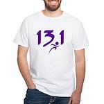 Purple 13.1 half-marathon White T-Shirt