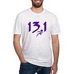 Purple 13.1 half-marathon Fitted T-Shirt