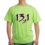 Purple 13.1 half-marathon Green T-Shirt
