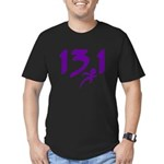 Purple 13.1 half-marathon Men's Fitted T-Shirt (da