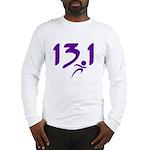 Purple 13.1 half-marathon Long Sleeve T-Shirt