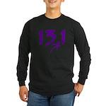 Purple 13.1 half-marathon Long Sleeve Dark T-Shirt