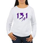 Purple 13.1 half-marathon Women's Long Sleeve T-Sh