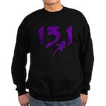 Purple 13.1 half-marathon Sweatshirt (dark)
