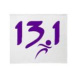 Purple 13.1 half-marathon Throw Blanket