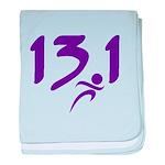 Purple 13.1 half-marathon baby blanket