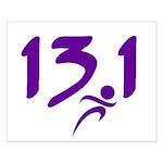 Purple 13.1 half-marathon Small Poster