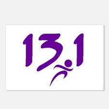 Purple 13.1 half-marathon Postcards (Package of 8)