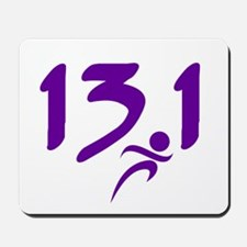 Purple 13.1 half-marathon Mousepad