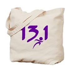 Purple 13.1 half-marathon Tote Bag