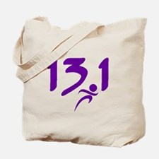 Purple 13.1 half-marathon Tote Bag