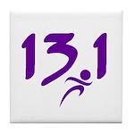 Purple 13.1 half-marathon Tile Coaster