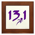 Purple 13.1 half-marathon Framed Tile